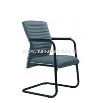ZINGER 3 EXECUTIVE VISITOR FABRIC OFFICE CHAIR WITH CHROME TRIMMING LINE- kerinchi | bangsar south | ampang point