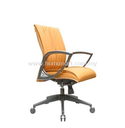 VITTA 3 EXECUTIVE LOW BACK LEATHER CHAIR WITH CHROME TRIMMING LINE