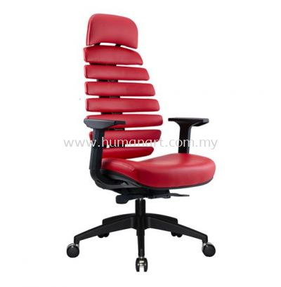 YOGA EXECUTIVE HIGH BACK LEATHER CHAIR WITH NYLON ROCKET BASE ACL 2227