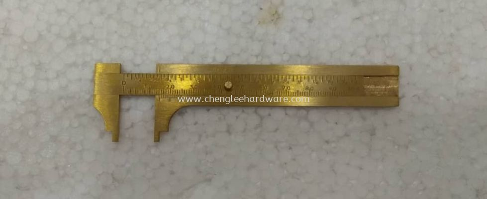 001984 INDIA 0-100MM BRASS VERNIER CALIPER