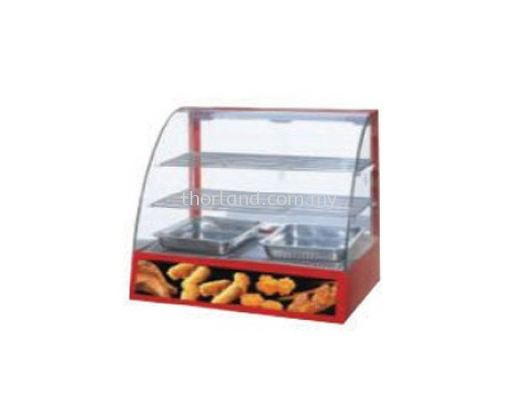 (A79) CURVED GLASS WARMING SHOWCASE