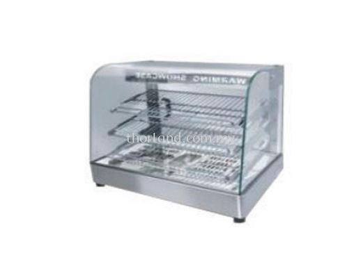 (A80) CURVED GLASS WARMING SHOWCASE
