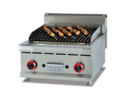 (A65) Counter Top Gas Lava Rock Grill