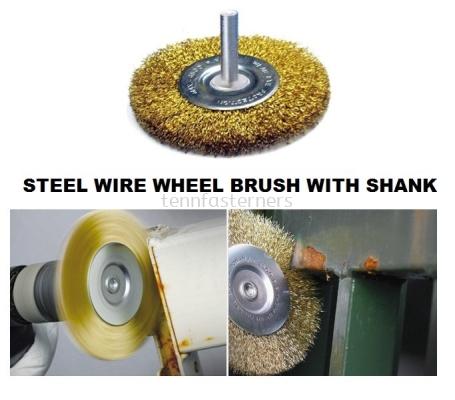 MK-WEL-13004 STEEL WIRE WHEEL BRUSH WITH SHANK