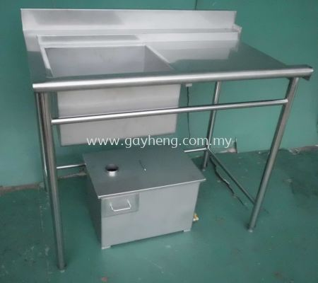Stainless Steel Sink for Dishwasher with grease trap ��ϴ���ϴ���价��������ϵͳ
