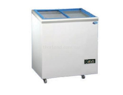 (J11)  CHEST FREEZER WITH FLAT GLASS DOOR