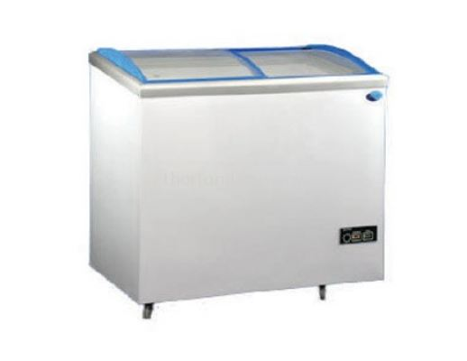 (J12)  CHEST FREEZER WITH CURVE GLASS DOOR
