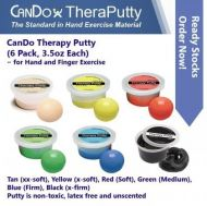 CanDo Therapy Putty (6 Pack, 100gm Each) For Hand And Finger Exercise