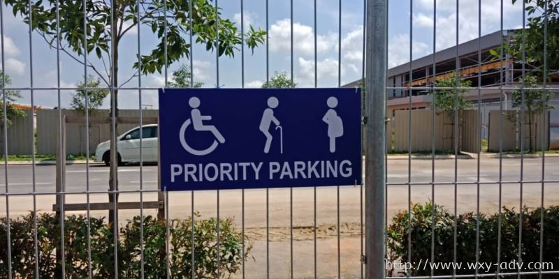 PRIORITY PARKING Acrylic Signage