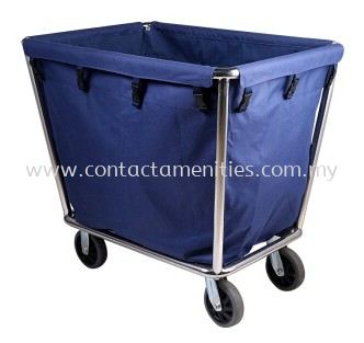 C40A Stainless Steel Soil Linen Trolley