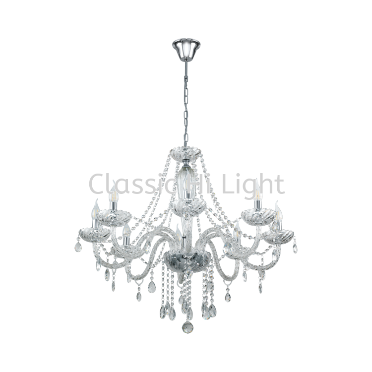 Eglo 39101 Crystal Pendant Light