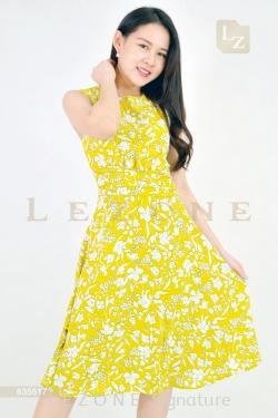 635517 PRINTED FLORAL DRESS【30% 40% 50%】