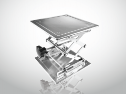 STAINLESS STEEL LIFTING PLATFORM STAND RACK