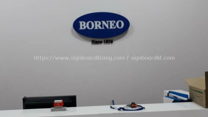 Borneo 3D led channel box up lettering indoor signage at taman intan klang