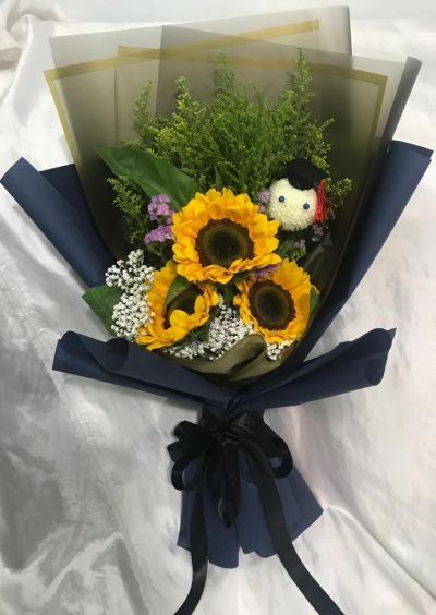 Sunflower Hand Bouquet (HB-972)