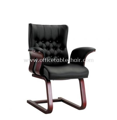 HAWKIN DIRECTOR VISITOR CHAIR WITH RUBBER-WOOD WOODEN CANTILEVER BASE ACL 2066