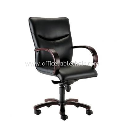 LAMIS DIRECTOR MEDIUM BACK CHAIR C/W RUBBER-WOOD WOODEN ROCKET BASE ACL 3001