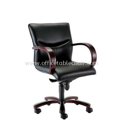 LAMIS DIRECTOR LOW BACK CHAIR C/W RUBBER-WOOD WOODEN ROCKET BASE ACL 3002