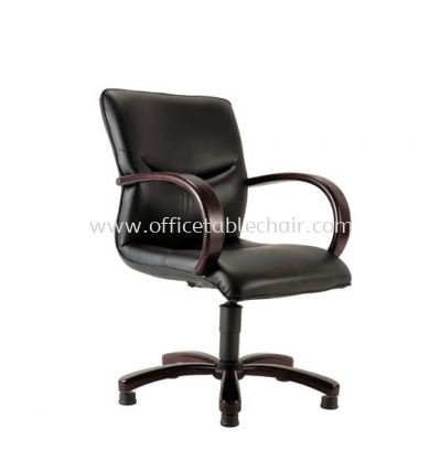 LAMIS DIRECTOR LOW BACK CHAIR C/W RUBBER-WOOD WOODEN ROCKET BASE ACL 3003 (AUTO-RETURN)