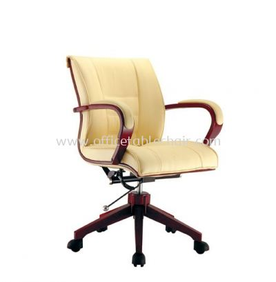 MECO A DIRECTOR LOW BACK CHAIR C/W WOODEN TRIMMING LINE ACL 1066 (A)
