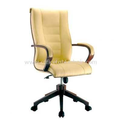 MECO B DIRECTOR HIGH BACK CHAIR C/W WOODEN TRIMMING LINE ACL 1088 (B)