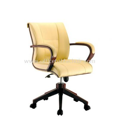MECO B DIRECTOR LOW BACK CHAIR C/W WOODEN TRIMMING LINE ACL 1066 (B)