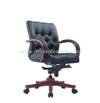 SANCTUARY DIRECTOR LOW BACK CHAIR WITH RUBBER-WOOD WOODEN BASE ACL 8228