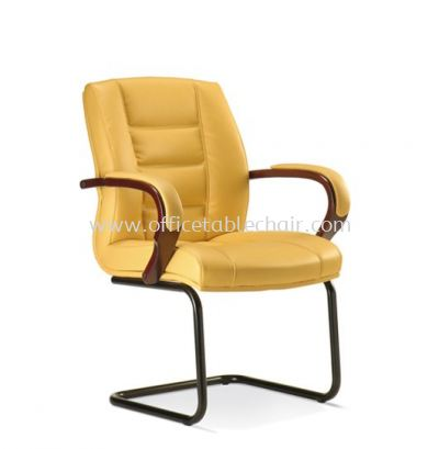 VIERA DIRECTOR VISITOR LEATHER CHAIR WITH EPOXY BLACK CANTILEVER BASE