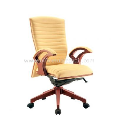 VIO ll DIRECTOR MEDIUM BACK CHAIR C/W WOODEN TRIMMING LINE ACL 9077