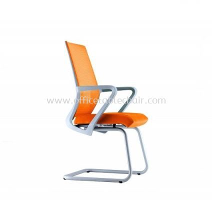 ANGLE 3 VISITOR MESH CHAIR C/W EPOXY GREY CANTILEVER BASE