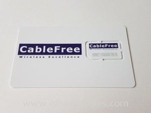 CableFree Custom SIM cards for 4G LTE & 5G NR Networks