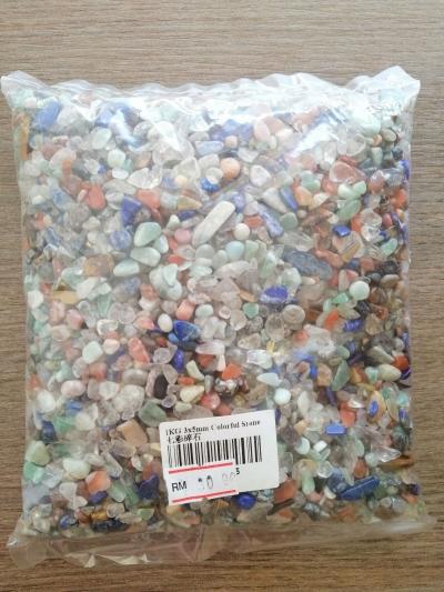 七彩水晶碎石1kg