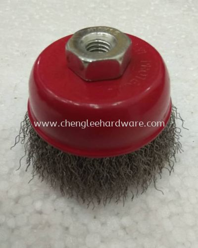 009930 M10 X 1.5  3 INCH STANDARD STEEL CUP BRUSH