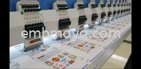 """Flat"" type Multi Head Embroidery machine Embroidery Machine"