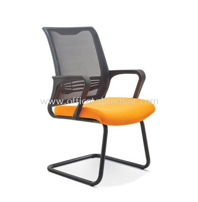 BEGIN VISITOR MESH CHAIR C/W EPOXY BLACK CANTILEVER BASE ASE 2723