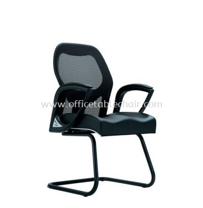 FOCUS VISITOR MESH CHAIR C/W EPOXY BLACK CANTILEVER BASE ACL 5003