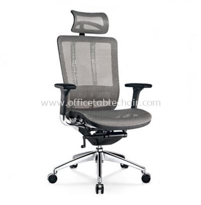 FUTURE HIGH BACK FULLY MESH CHAIR WITH ALUMINIUM BASE BACK SUPPPORT & ADJUSTABLE HANDLE AFT-M1
