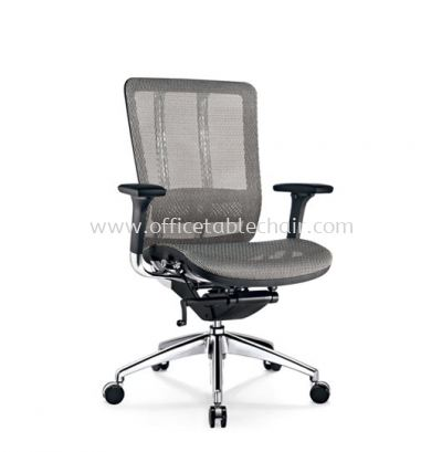 FUTURE MEDIUM BACK FULLY MESH CHAIR WITH ALUMINIUM BASE BACK SUPPPORT & ADJUSTABLE HANDLE AFT-M2