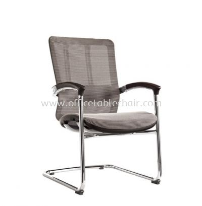 FUTURE VISITOR FULLY MESH ERGONOMIC CHAIR WITH CHROME BASE & BACK SUPPPORT AFT-M3