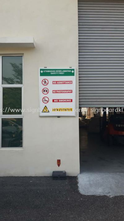 Normal Metal G.i Safety signage at kapar klang
