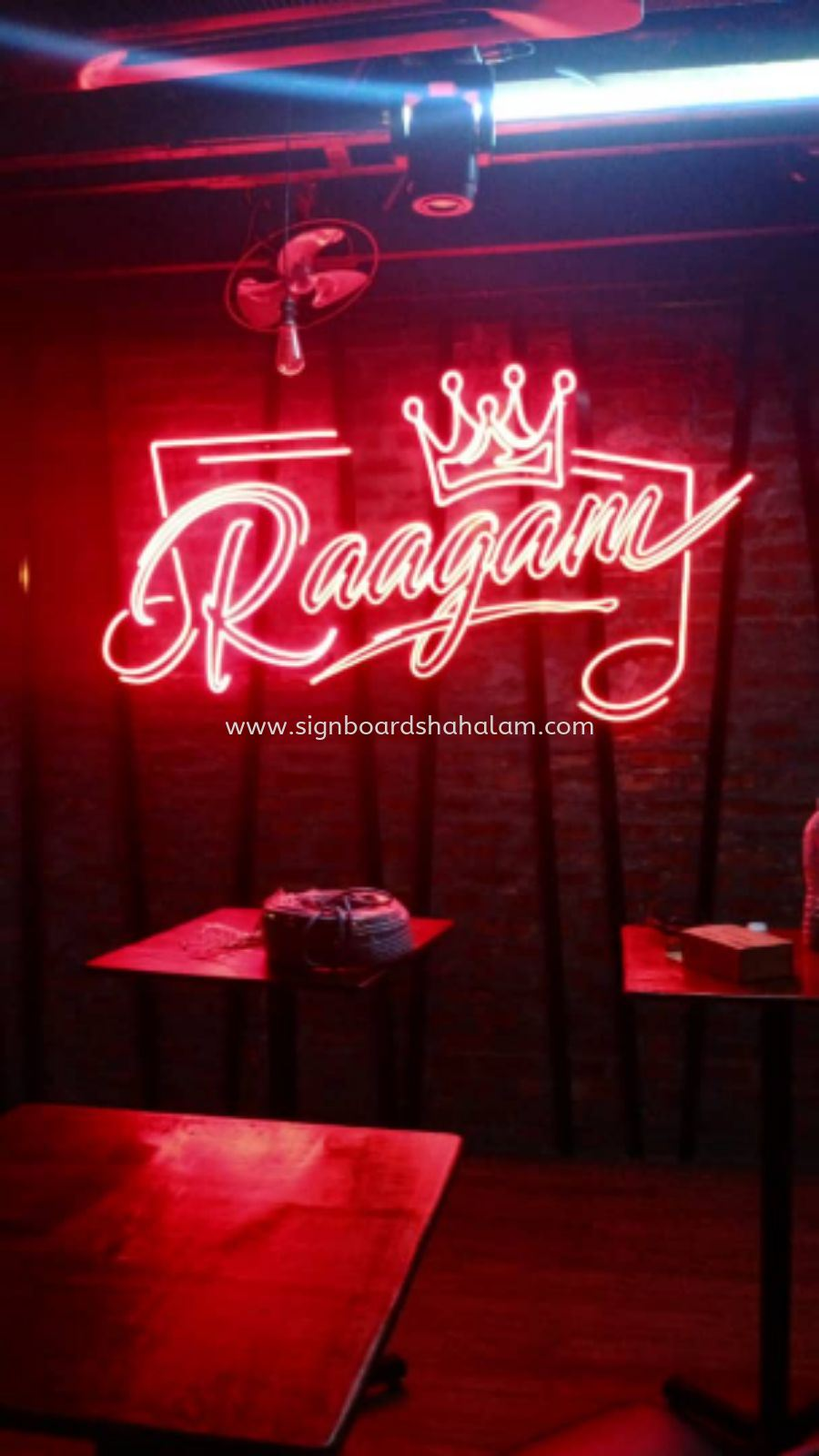 Indoor 3D Led Neon Light Logo & Lettering Signage, Raagam Bar, Bangsar