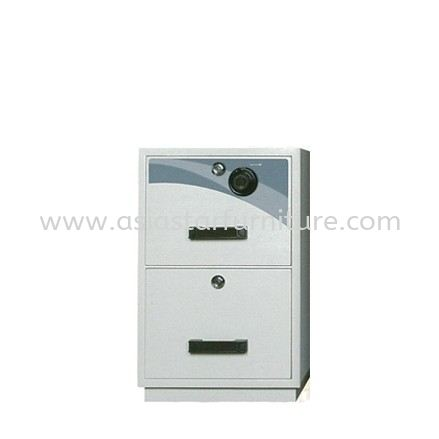 FIRE RESISTANT CABINET SAFETY BOX 2 DRAWER-safety box bangi | safety box kajang | safety box semenyih