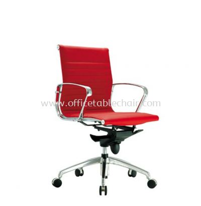 SEFINA EXECUTIVE LOW BACK LEATHER CHAIR UPHOLSTERY WITH CHROME BODY FRAME