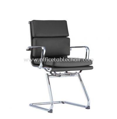 LEO-PAD EXECUTIVE VISITOR CHAIR WITH CHROME BODY FRAME