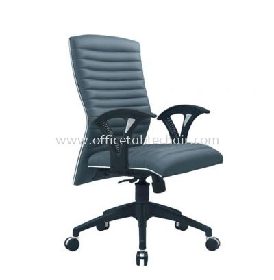 ZINGER 3 EXECUTIVE MEDIUM BACK FABRIC CHAIR WITH CHROME TRIMMING LINE