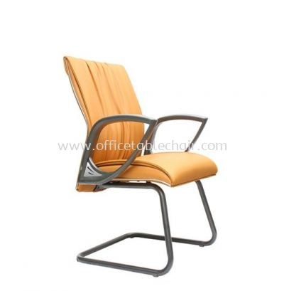 VITTA 3 EXECUTIVE VISITOR CHAIR WITH CHROME TRIMMING LINE