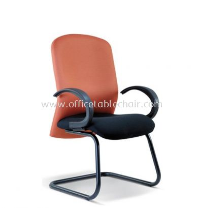 JONFI STANDARD VISITOR FABRIC CHAIR WITH EPOXY BLACK CANTILEVER BASE (B)