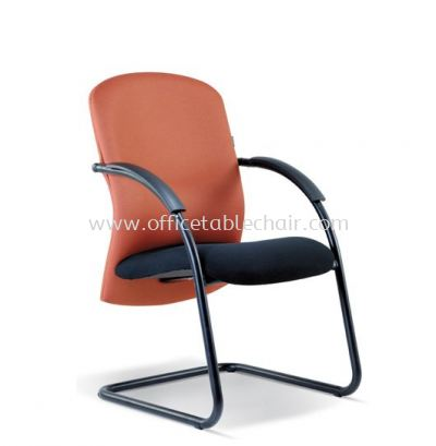 CONFI STANDARD VISITOR CHAIR WITH EPOXY BLACK CANTILEVER BASE ASE 2009 (B)