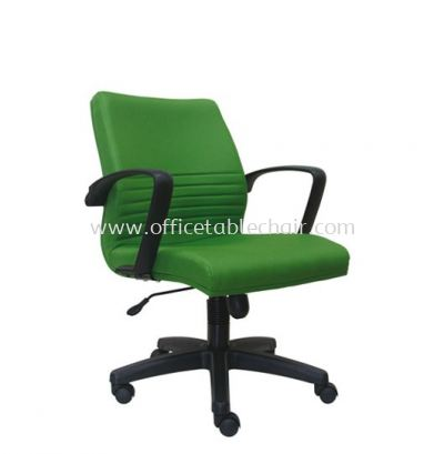 DEMO STANDARD LOW BACK FABRIC CHAIR WITH POLYPROPYLENE BASE