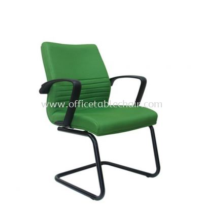 DEMO STANDARD VISITOR CHAIR WITH EPOXY BLACK CANTILEVER BASE ASE 214